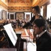 With Josè Gallardo during the concert in Palazzo Quirinale, Rome