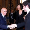 With the Italian State-President Giorgio Napolitano after the concert in Palazzo Quirinale, Rome