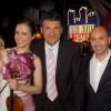 With the TV-presenter Fabrizzio Frizzi and the pianist Simone Soldati