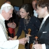 With Pope Benedict XVI. and violin-virtuoso Manrico Padovani